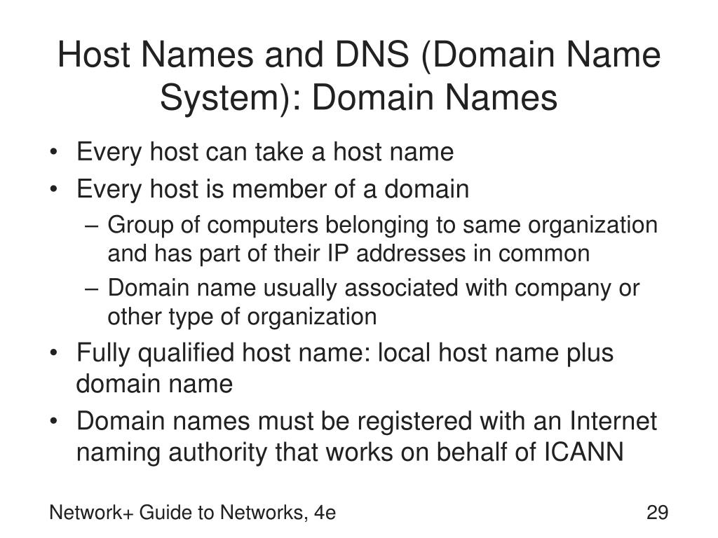 Host Names and DNS (Domain Name System): Domain Names