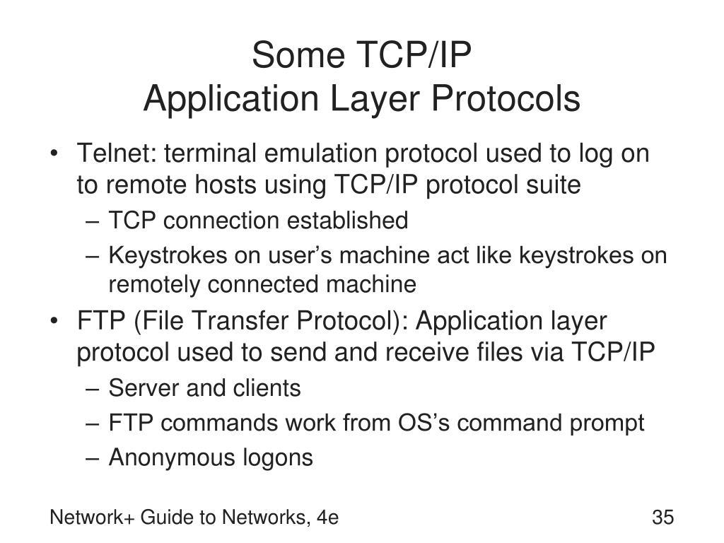 Some TCP/IP