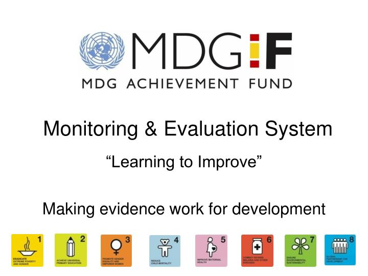 Monitoring evaluation system