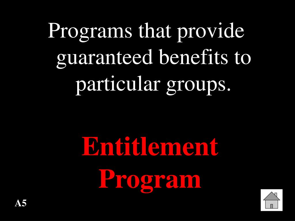 Programs that provide guaranteed benefits to particular groups.