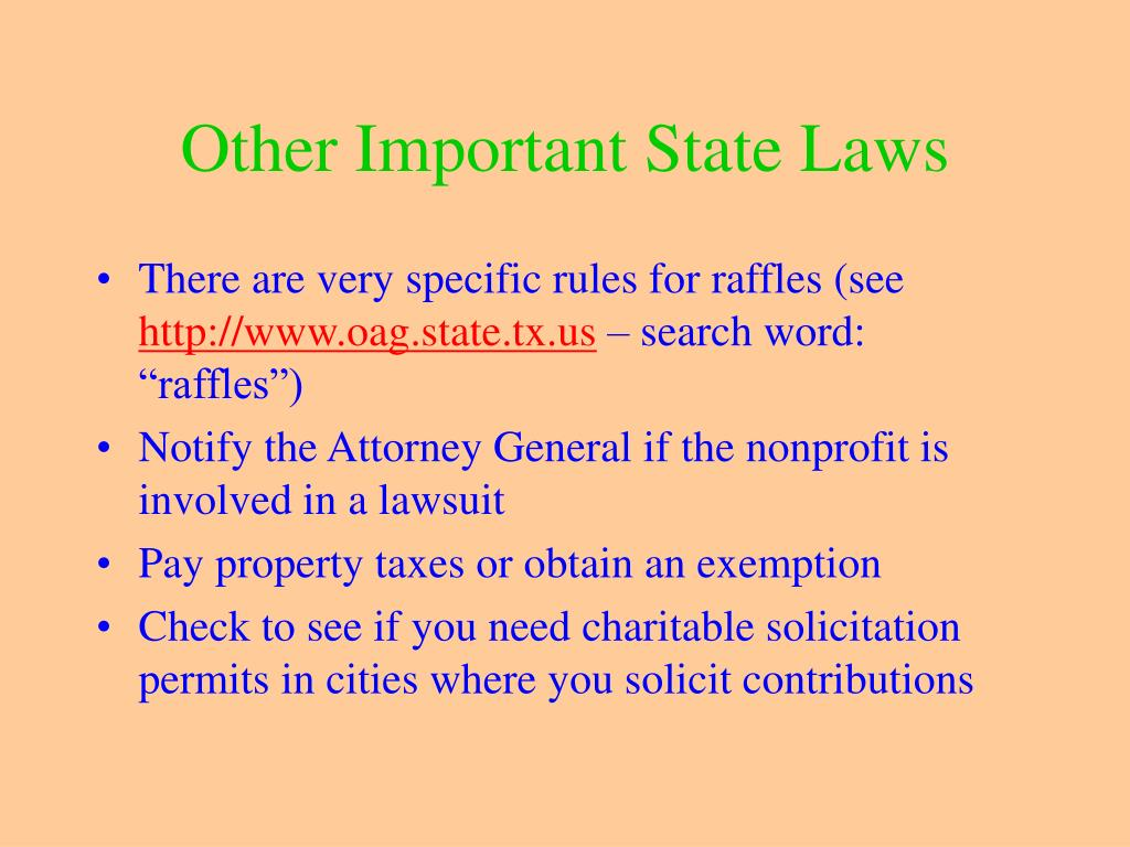 Other Important State Laws