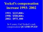 yeckel s compensation increase 1993 2002