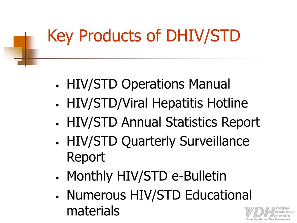 Key Products of DHIV/STD
