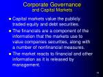 corporate governance and capital markets