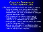 corporate governance financial information users