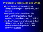 professional reputation and ethics