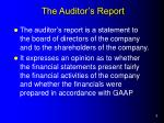the auditor s report