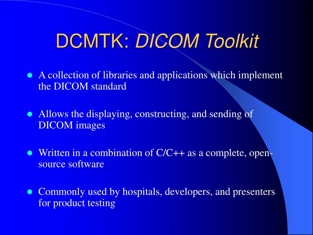 PPT - A DICOM Import Module for XIP PowerPoint Presentation - ID:673019