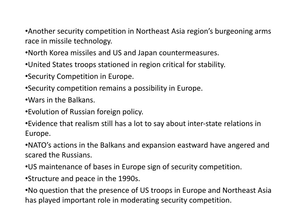 Another security competition in Northeast Asia region's burgeoning arms race in missile technology.