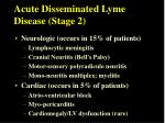 acute disseminated lyme disease stage 2