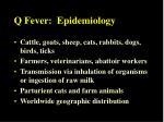 q fever epidemiology
