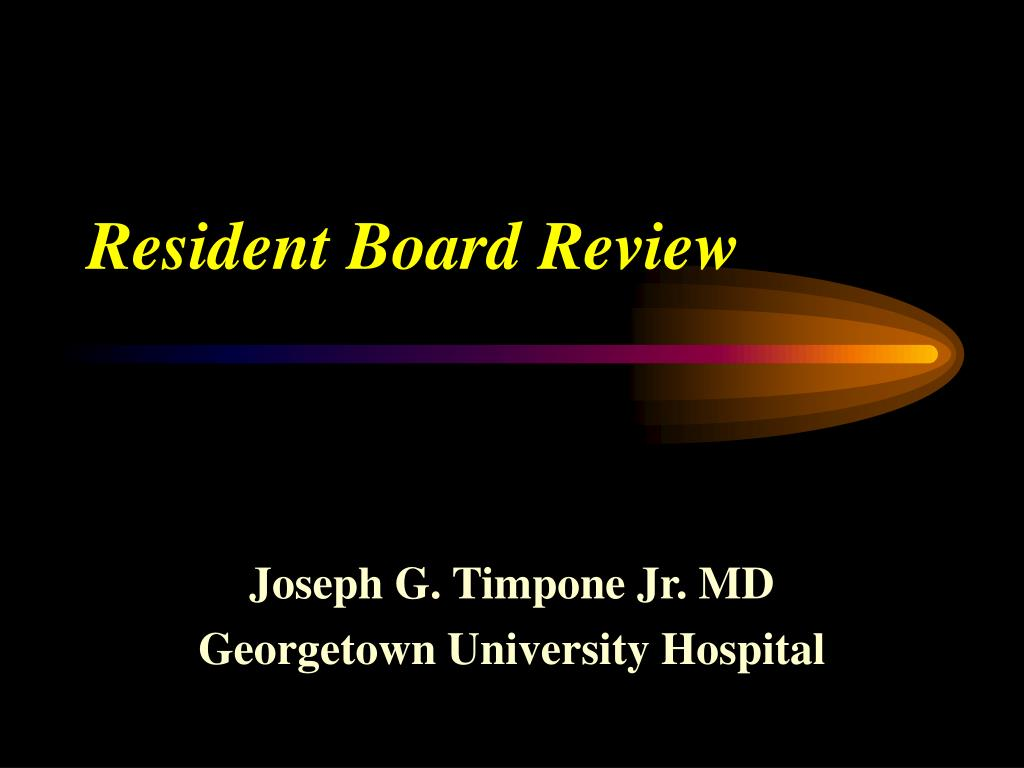 resident board review l.