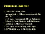 tularemia incidence