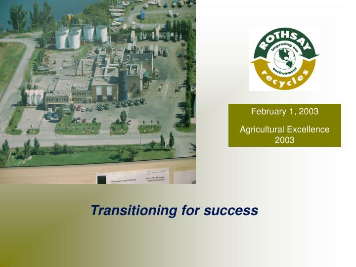 February 1 2003 agricultural excellence 2003