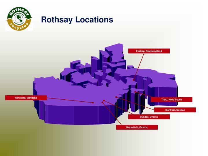 Rothsay Locations