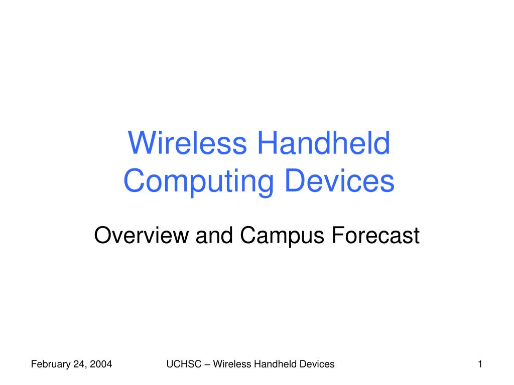 wireless handheld computing devices l.