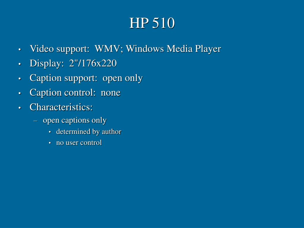 HP 510