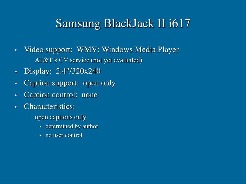 Samsung BlackJack II i617