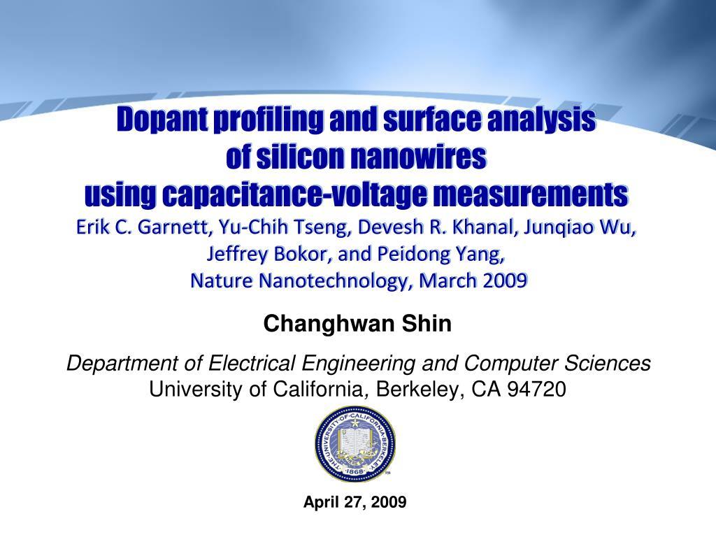 Dopant profiling and surface analysis