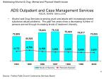 ads outpatient and case management services fiscal years 1994 to 2000