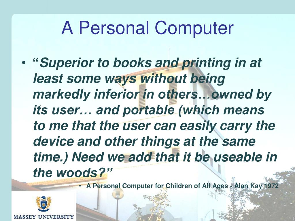 A Personal Computer