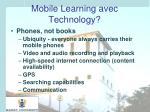 mobile learning avec technology