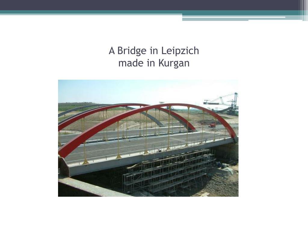 A Bridge in Leipzich