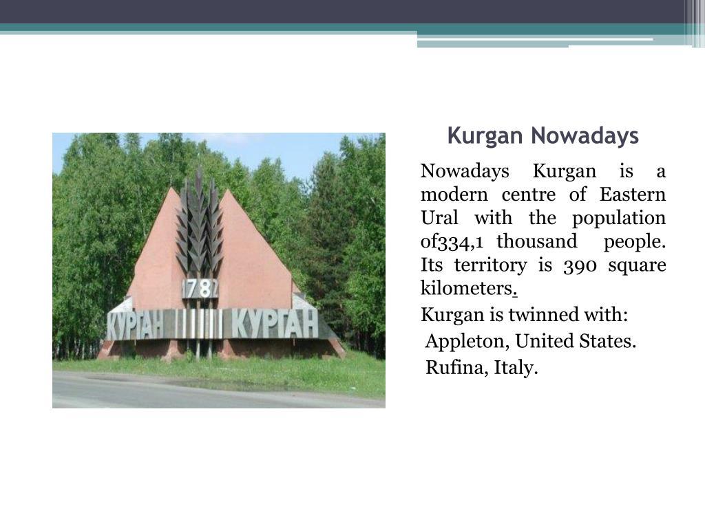 Kurgan Nowadays
