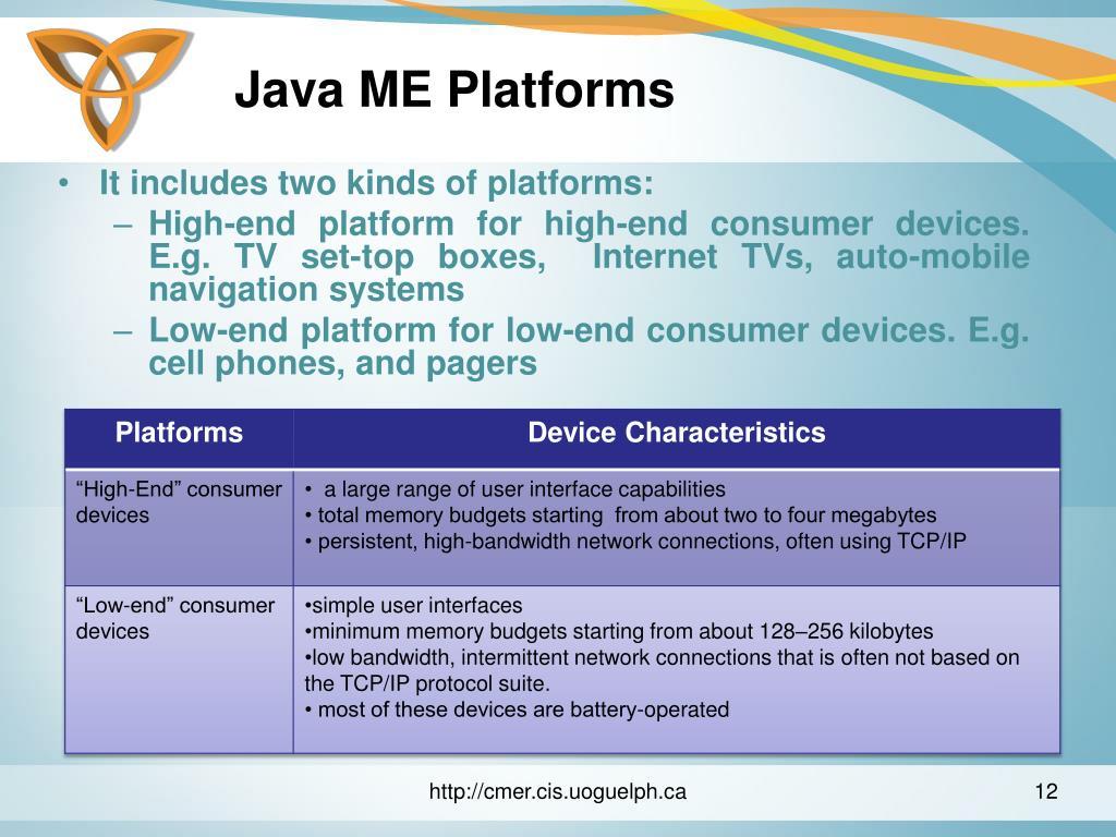Java ME Platforms