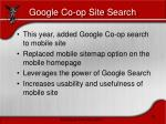 google co op site search
