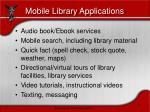 mobile library applications