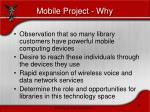 mobile project why