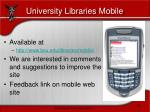 university libraries mobile25