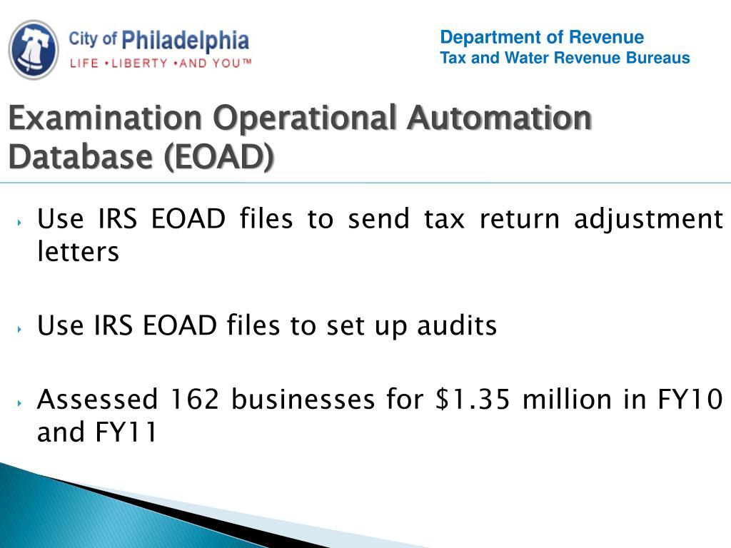 PPT - City of Philadelphia Department of Revenue Compliance
