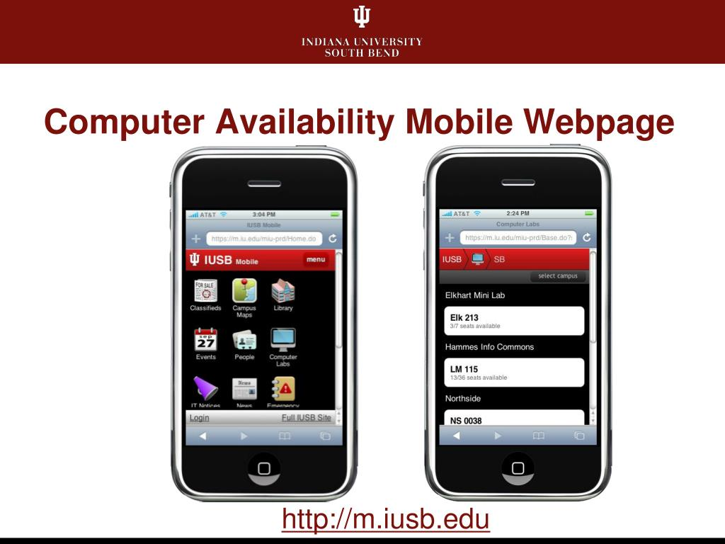 Computer Availability Mobile Webpage