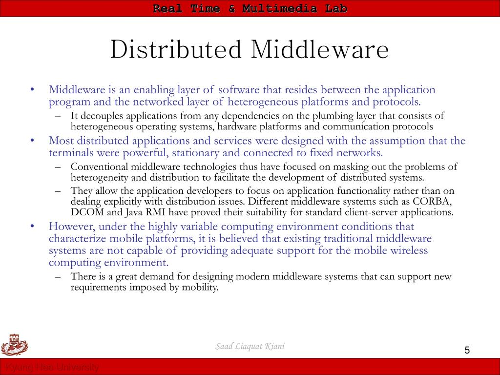 Distributed Middleware