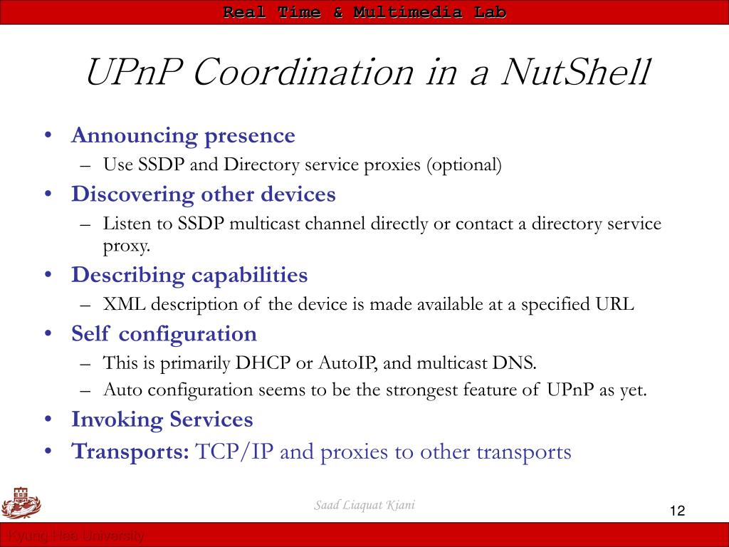 UPnP Coordination in a NutShell
