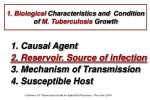 1 biological characteristics and condition of m tuberculosis growth17