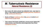 m tuberculosis resistance natural resistance 3
