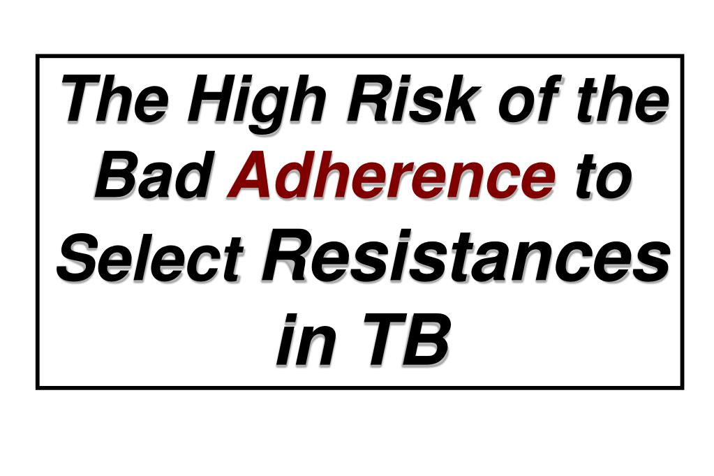 The High Risk of the Bad