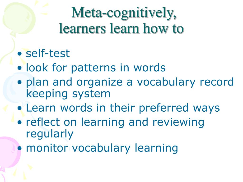 Meta-cognitively,