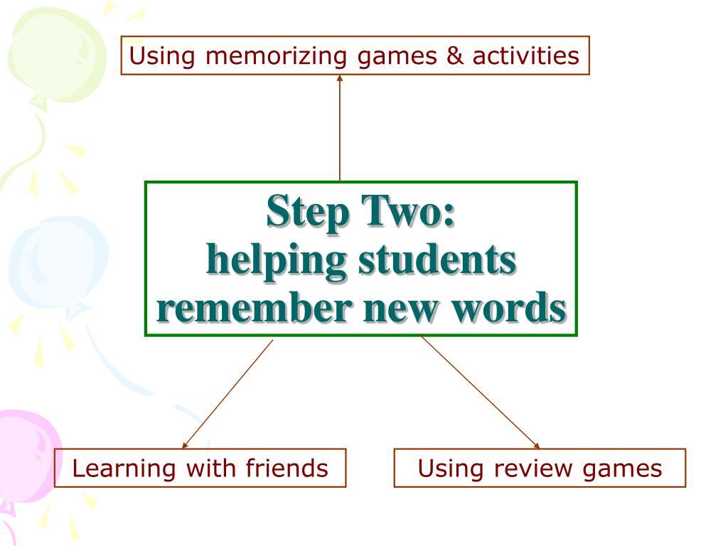 Using memorizing games & activities