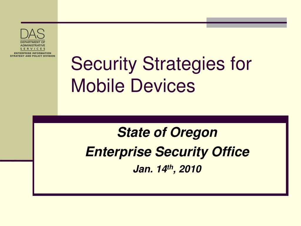 state of oregon enterprise security office jan 14 th 2010 l.