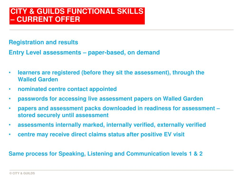 City & Guilds Functional Skills