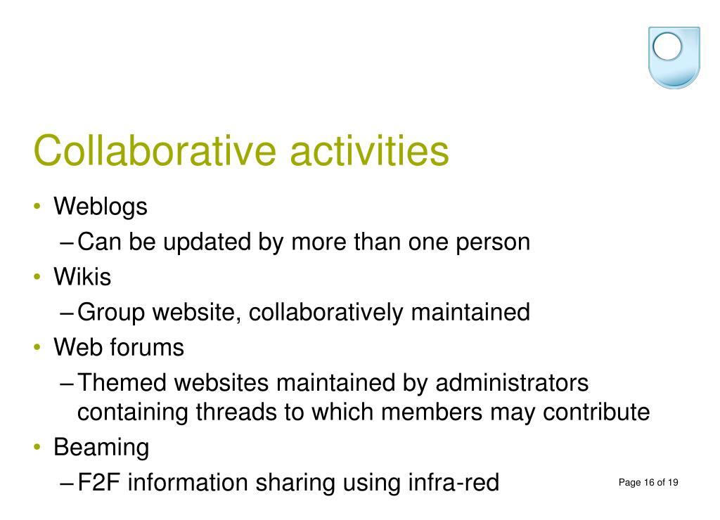Collaborative activities