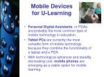 mobile devices for u learning
