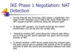 ike phase 1 negotiation nat detection