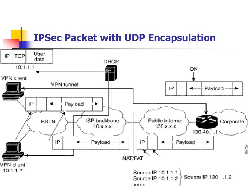 IPSec Packet with UDP Encapsulation