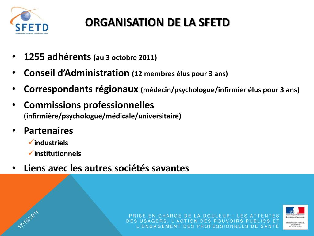 organisation DE LA SFETD