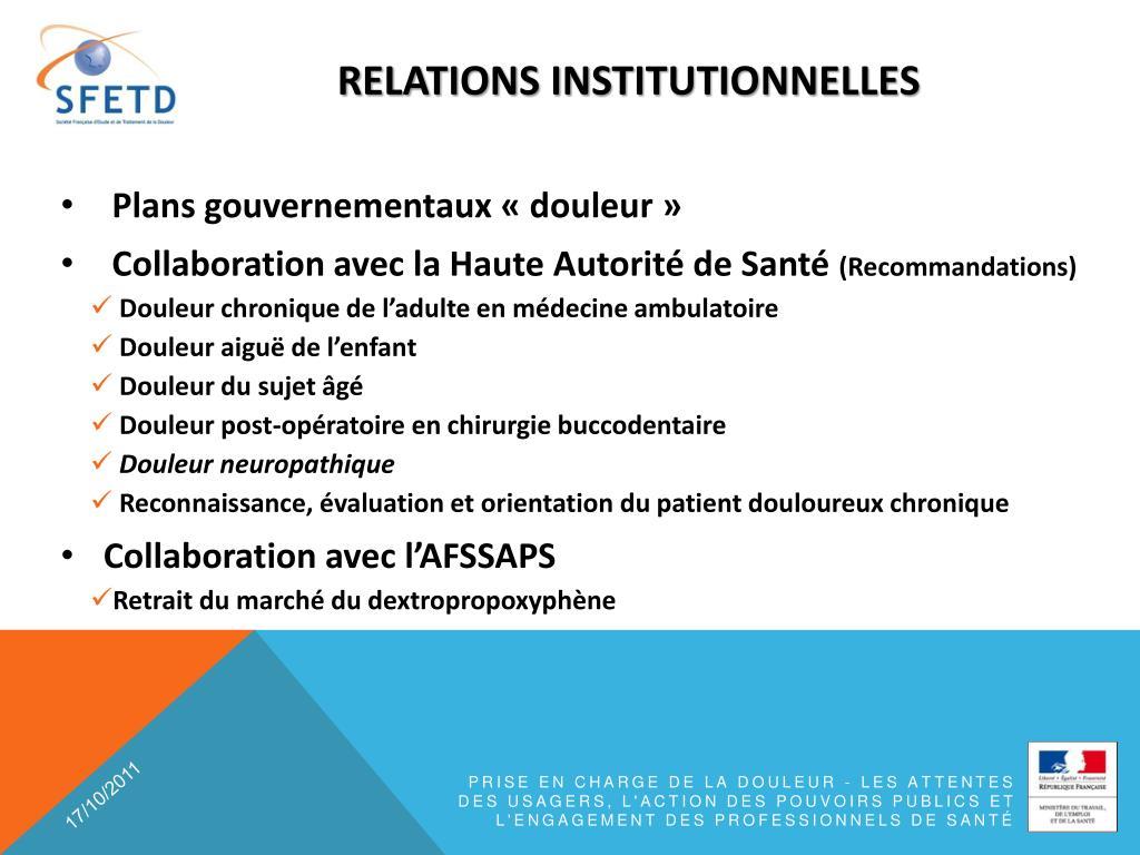 relations institutionnelles